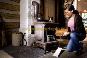 эксплуатация печи-камина с кирпичной трубой отвода дыма