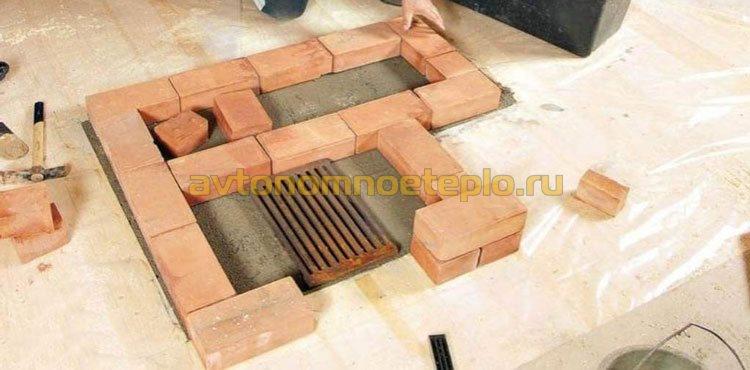 Делаем фундамент под печь » Сделай камин