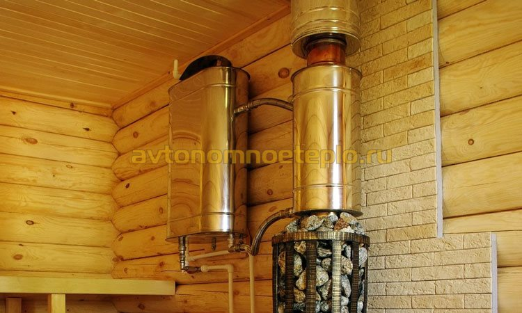 система нагрева воды на банной печи