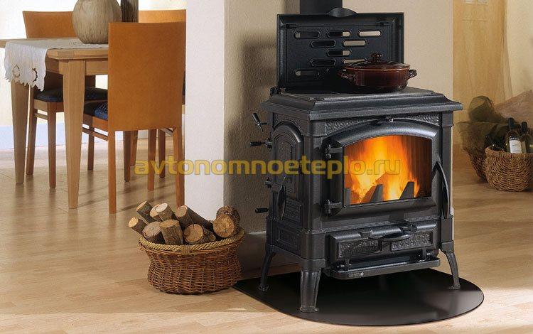печка на дровах и с плитой