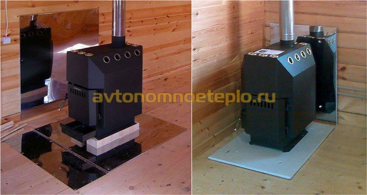 защита стен из дерева металлическими отражающими экранами