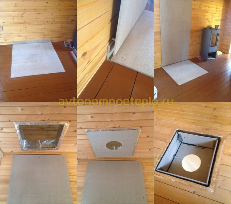 защита стен и потолка при монтаже печки