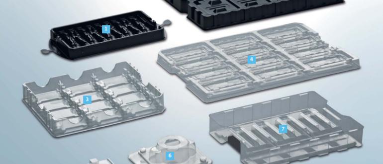 Блистерная упаковка при транспортировке деталей на производстве