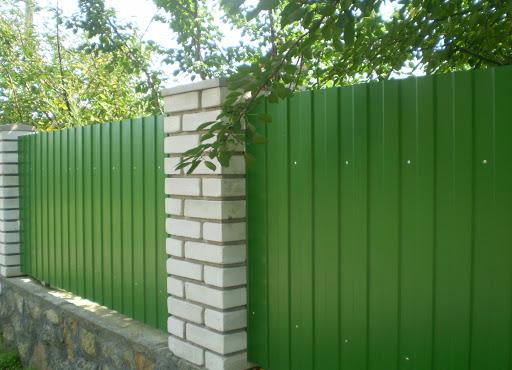 Забор из профнастила МП