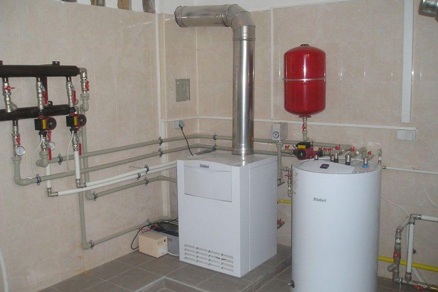 Схемы систем отопления от газового котла