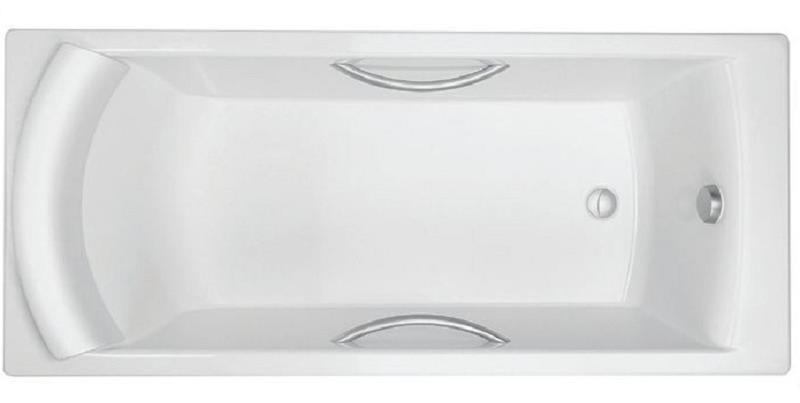 Ванна чугунная Jacob Delafon Biove E2938 с отверстиями для ручек, 170х75 см