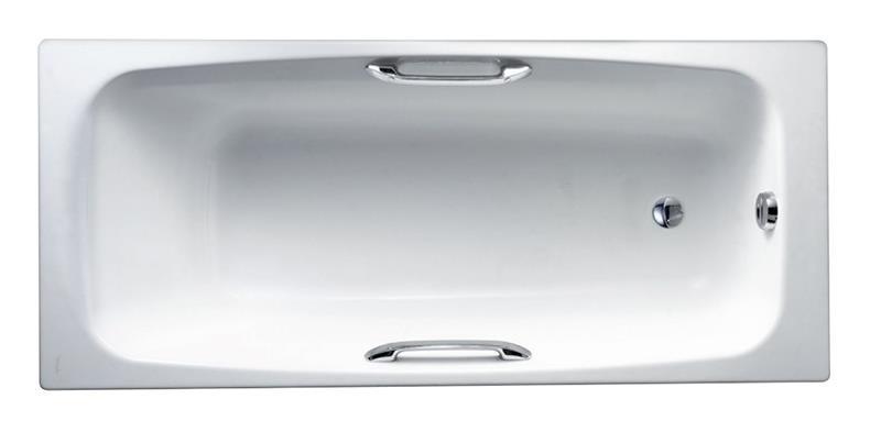 Ванна чугунная Jacob Delafon Diapаson E2926 с отверстиями для ручек, 170х75 см