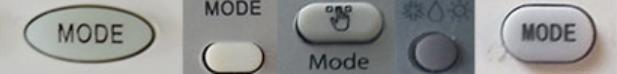Кнопки переключения режима работы на пульте кондиционера