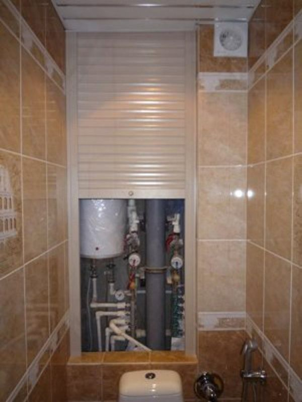 Монтаж водонагревателя в туалете