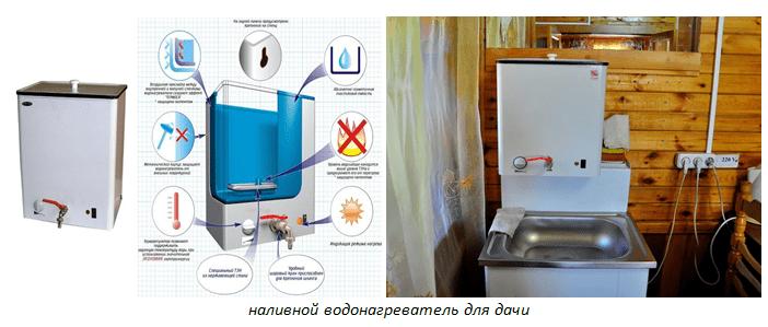 Наливной водонагреватель для дачи