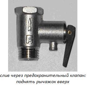 Предохранительный клапан