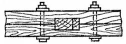 Шуруп в деревянной стене
