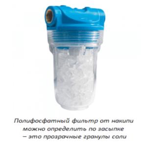 Прозрачные гранулы соли в фильтре